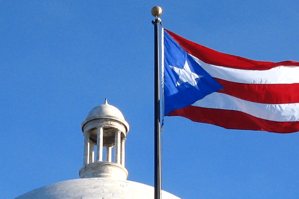 Puerto Rican flag outside the Capitol, San Juan, Puerto Rico, 2 March, 2008