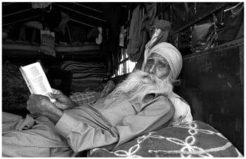 | A farmer who joined in the initial protest reads work by the revolutionary Punjabi poet Pash in his trolly at the Singhu border in Delhi 10 December 2021 Vikas Thakur Tricontinental Institute for Social Research | MR Online