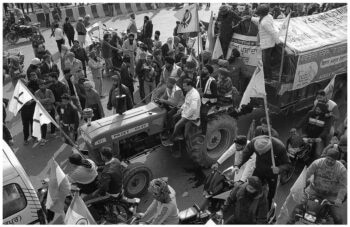 | A tractor contingent on GT Karnal Road breaks through barricades and enters Delhi beginning a confrontation between protestors and the police in Delhi 26 January 2021 Vikas Thakur Tricontinental Institute for Social Research | MR Online