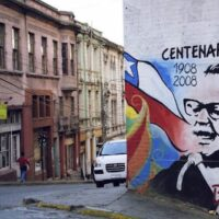 | A mural of Salvador Allende in a street in Santiago de Chile on the occasion of his birth centenary | MR Online