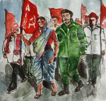   Aswath Young Socialist Artists India Marching with the Peasants 2021   MR Online