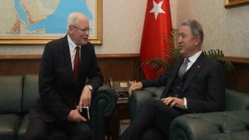 | US special envoy on Syria James Jeffrey with Turkeys defense minister in Ankara in 2019 | MR Online