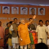 Narendra Modi at the BJP Public Meeting Public Meeting in Pune on 14th July 2013 (Photo: Wikimedia Commons - Narendra Modi)