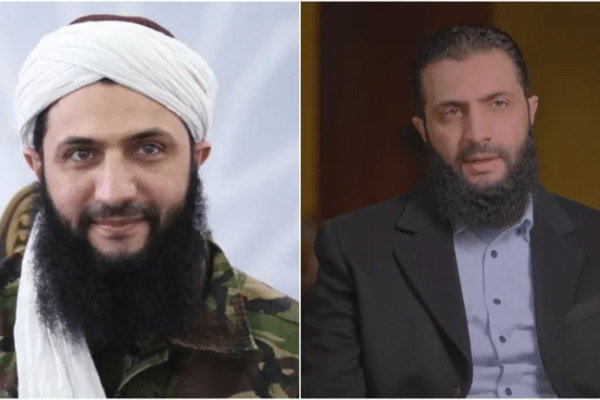 Jabhat al-Nusra founder Mohammad al-Jolani before and after his image makeover