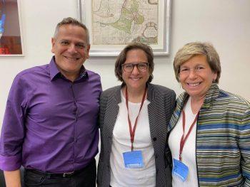 | Randi Weingarten right meets with Meretz leader Nitzan Horwitz left on trip to Israel in June 2021 | MR Online