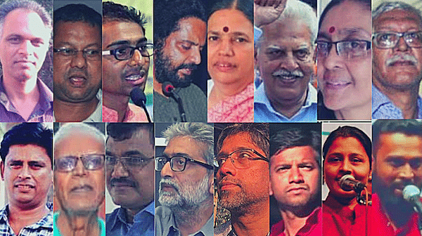The 16 arrested in connection with the Elgar Parishad-Bhima Koregaon case. Photo: The Wire