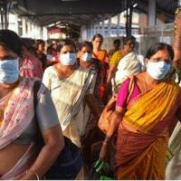 A women's volunteer brigade organizes mutual aid in Kerala, India.