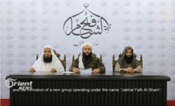 | Mohammad Jolani announces the formation of Jabhat Fateh alSham formerly Jabhat alNusra in 2016 | MR Online