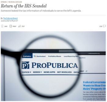   The real scandal wrote the Wall Street Journal 6821 is that someone leaked confidential IRS information about individuals to serve a political agenda   MR Online