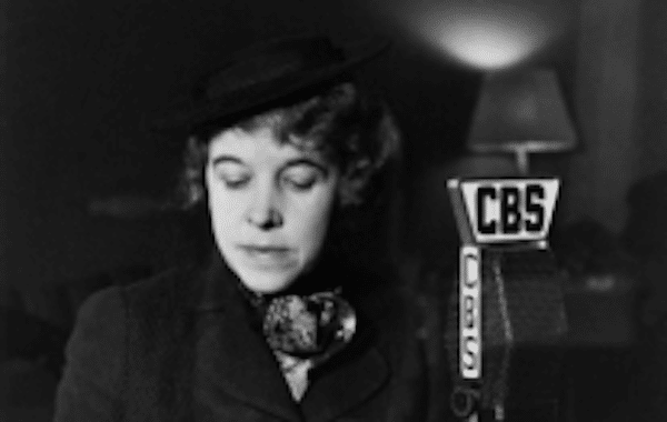 | Hallie Flanagan Director of the FTP Flanagan on CBS Radio for the Federal Theatre of the Air 1936 Courtesy Wikipedia Commons | MR Online
