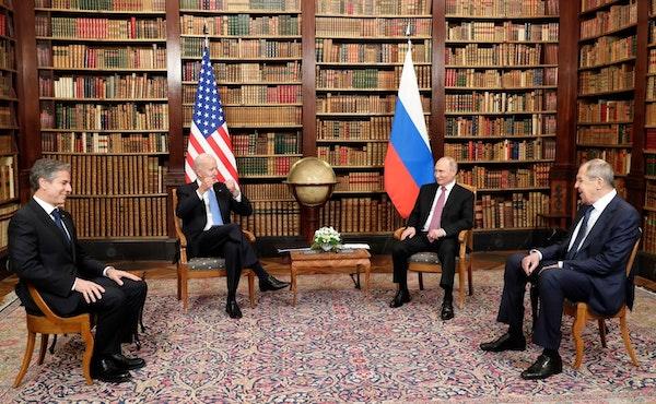 | Competence meets in Blinken Nod Vlad and Sergei in Geneva wwwkremlinru Wikimeda Commons | MR Online