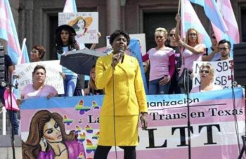 | Monica Roberts speaks at a rally in protest of the socalled bathroom bill on the steps of the Capitol in Austin on August 4 2017 COURTESY OF TRANSGRIOT | MR Online