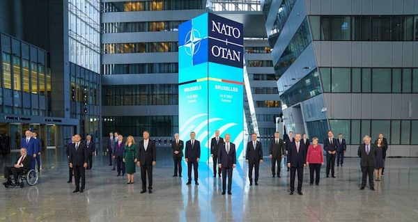 | NATO heads of state at the alliances summit in Brussels | MR Online