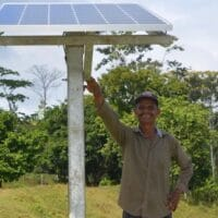 Nicaragua's green revolution has not only seen investment in renewable sources of energy but it has also brought electrical power to areas that did not have access before. Photo: ENATREL