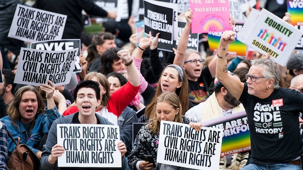 | Protesters block the street in front of the Supreme Court in Washington DC on Oct 8 2019 as the court hears arguments on whether gay and transgender people are covered by a federal law barring employment discrimination on the basis of sex Credit Bill ClarkGetty Images | MR Online