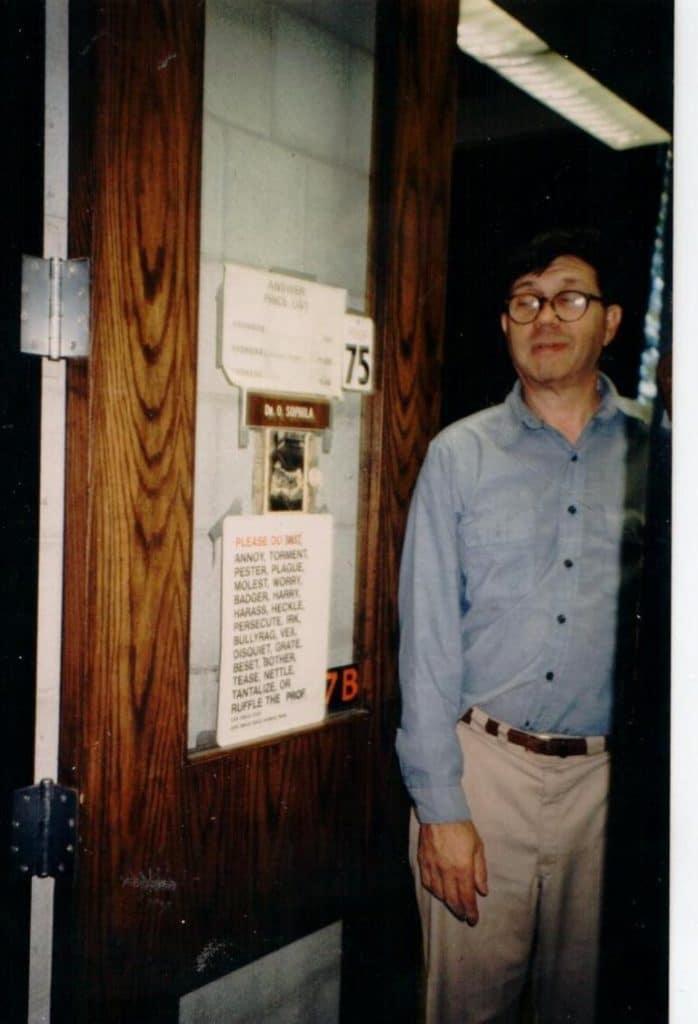 Dick Lewontin 19292021 | MR Online | Richard C Lewontin in his office door | MR Online