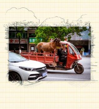 The countryside to Tongren City, Guizhou Province