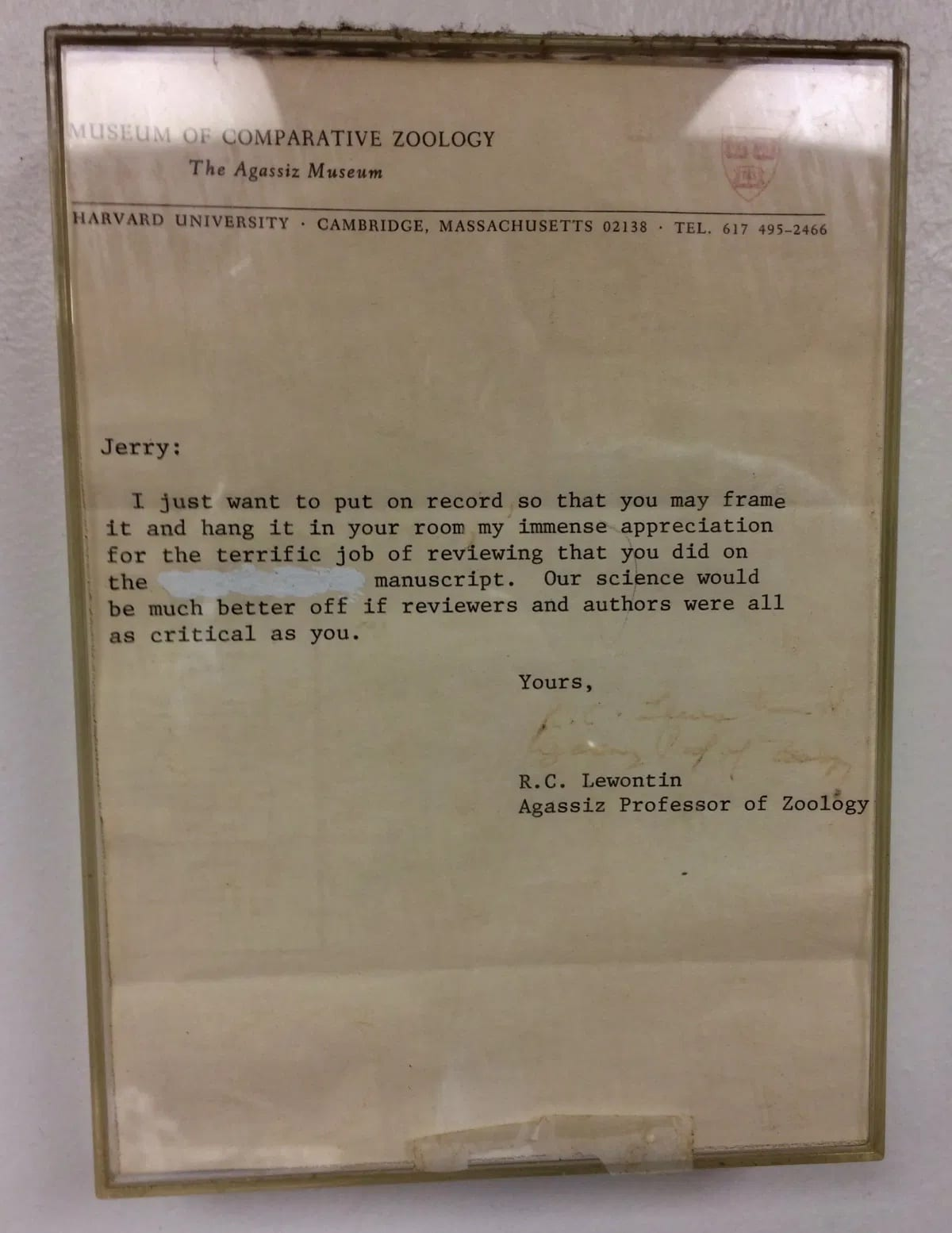 | A note of approbation from Dick | MR Online
