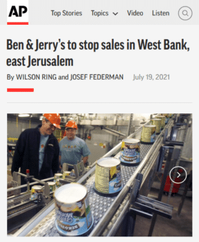 | Palestinian perspective on Ben amp Jerrys decision | MR Online