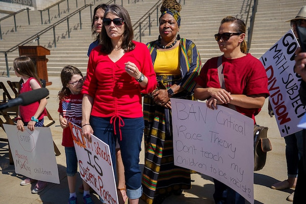 | Demonstrators protest critical race theory at the State Capitol in Salt Lake City May 2021 | MR Online