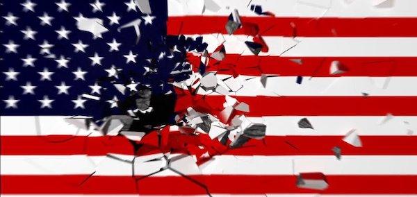 | American flag shattered | MR Online