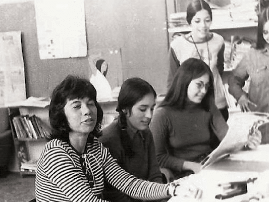 | Betita Martinez left and staffers of El Grito del Norte in Las Vegas New Mexico 1972 | MR Online