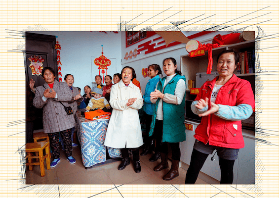 | Women who migrated to the Wangjia community participate in local activities at the community centre in Tongren City Guizhou Province | MR Online