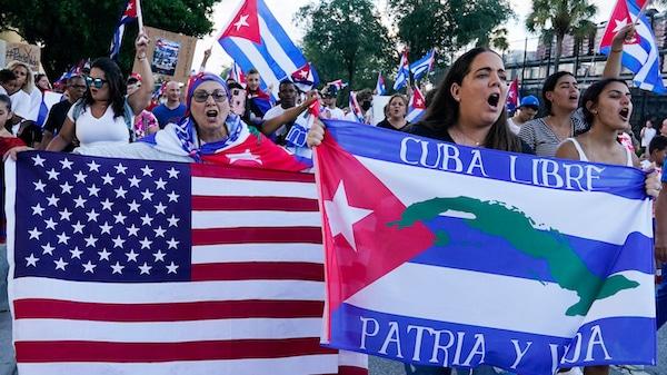 | Floridians from Cubas expat community in Hialeah Fla protest | MR Online