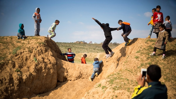 | Israeli Arab Bedouin children play before a rally marking the 40th anniversary of Land Day and against a plan to uproot the village of Umm AlHiran in Umm AlHiran the Negev desert southern Israel Wednesday March 30 2016 Land Day commemorates the killing of six Arab citizens of Israel by the Israeli army and police on March 30 1976 during protests over Israeli confiscations of Arab land AP PhotoAriel Schalit | MR Online