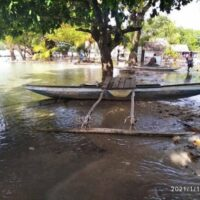 Saltwater inundation in the west New Britain province of Papua New Guinea