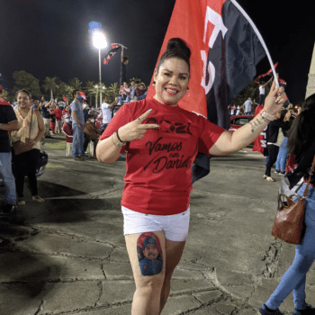 | One woman displayed a leg tattoo of President Daniel Ortega | MR Online