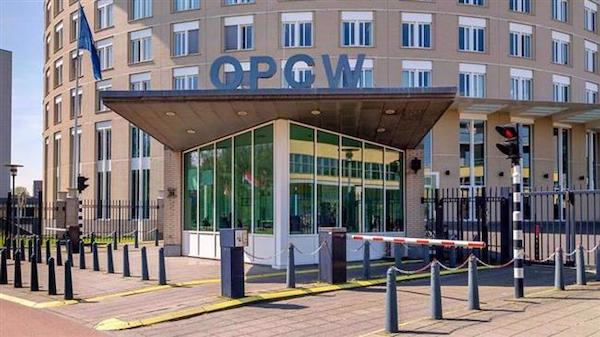   the Prohibition of Chemical Weapons OPCW pictured outside the headquarters in The Hague the Netherlands   MR Online