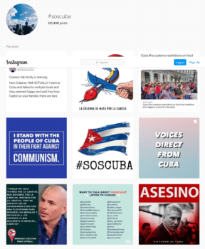 | SOSCUBA hashtag | MR Online