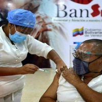 Despite the harsh U.S. sanctions, about 11% of the Venezuelan population has been vaccinated. Photo: Venezuelan Ministry of Health/Twitter