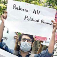 Demonstration against political prisoners