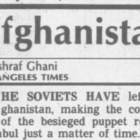 Ashraf Ghani in the Los Angeles Times on February 15, 1989