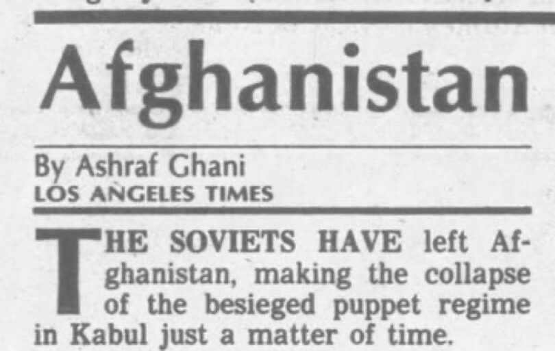 | Ashraf Ghani in the Los Angeles Times on February 15 1989 | MR Online
