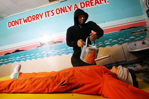   Artist Steve Powers installation Waterboard Thrill Ride at the Coney Island arcade August 14 2008   MR Online