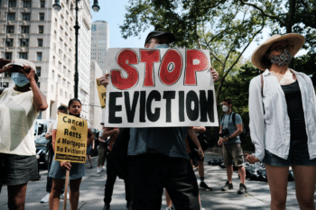 | Activists protest against evictions near New York City Hall on Aug 11 2021 | MR Online