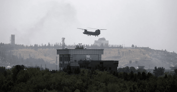  The New York Times 81521 ran the next best thing to a photo of a helicopter taking off from the Kabul embassy roof a photo of a helicopter flying over the embassy roof   MR Online