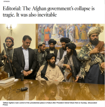   The Los Angeles Times 81621 praised the USs noble hopes to build a multiparty democracy insisting that the people of Afghanistan were failed by their leaders   MR Online