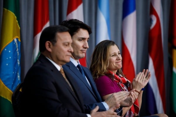   Prime Minister Justin Trudeau and former Foreign Affairs Minister Chrystia Freeland host a gathering of foreign ministers from the Lima Group a coalition of countries formed to solve the Venezuela crisis   MR Online