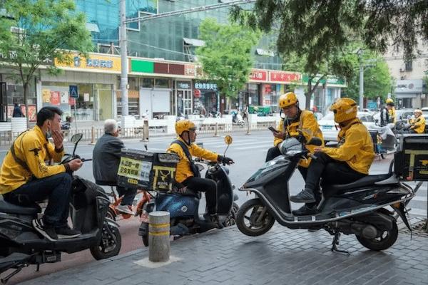   Meituan delivery drivers in Beijing   MR Online