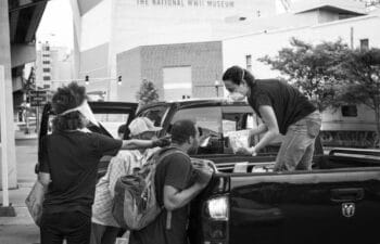 | Members of Southern Solidarity a mutual aid group in New Orleans handing out supplies | MR Online