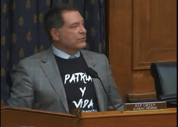 | Republican Rep Mark Green sports a Patria y Vida during a July 20 House Foreign Relations Committee hearing on Cuba | MR Online