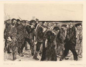   Käthe Kollwitz March of the Weavers 18931897 Line etching and sandpaper   MR Online