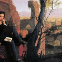 A portrait of Percy Bysshe Shelley