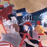R.B. Kitaj, The Autumn of Central Paris (After Walter Benjamin), 1972. Oil on canvas. (R.B. Kitaj Studio Project.)