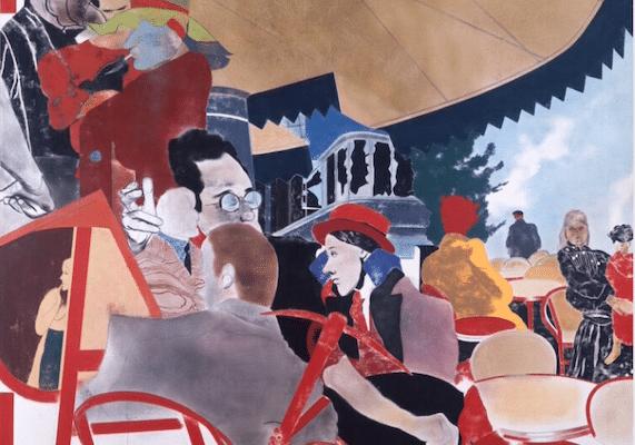   RB Kitaj The Autumn of Central Paris After Walter Benjamin 1972 Oil on canvas RB Kitaj Studio Project   MR Online