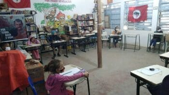 | Afterschool classroom in Camp Marielle Franco 2021 photograph by the Communication Sector MSTSao Paulo | MR Online
